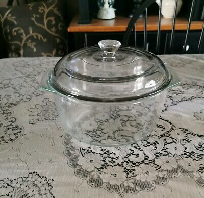 Pyrex Clear Dutch Oven With Lid #344
