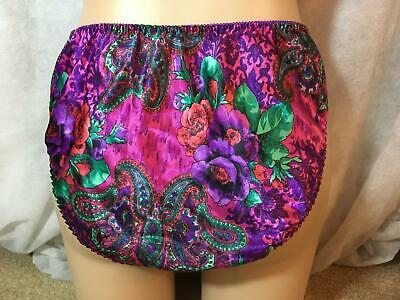 RARE Vtg VICTORIA'S SECRET Satin Full Back HI-CUT Flutter Sheer Panty Medium M 6