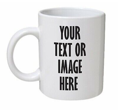 PERSONALISED PHOTO MUG CUSTOM CUP NAME GIFT DESIGN Birthday Valentines Present