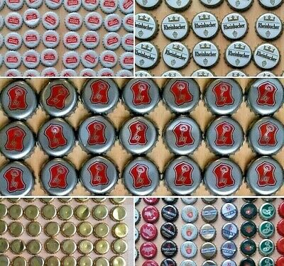 25 x Beer Bottle Tops Caps Used for craft projects etc Becks Stella Mixed