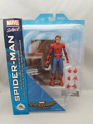 MARVEL Select Spider-Man Homecoming  Disney Store unmasked exlusive New