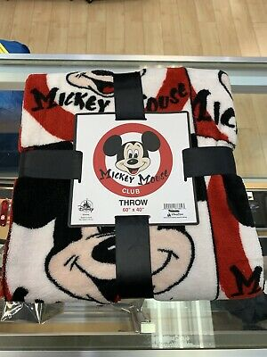 Mickey Mouse Club Fleece Throw Blanket Walt Disney World Theme Parks NEW NWT
