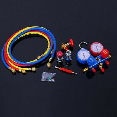 AC Manifold Gauge Set Cooling System for Vacuum Pump Evacuation with 5FT Hose