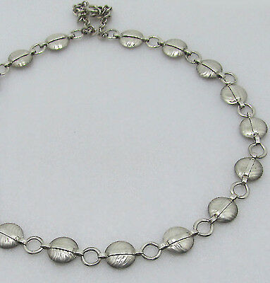 Art Deco Silver Necklace - Silver Necklace - Bauhaus Style -necklace