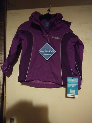 Mountain Warehouse Girls Aged 5-6 Years Purple Coat Brand New With Tags