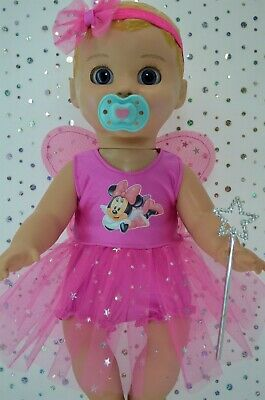 "Play n Wear Dolls Clothes For 17"" Luvabella CANDY PINK FAIRY~PANTS~HEADBAND~WAND"