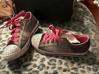 Girls 13 Limited Edition Twinkle Toes gray by Skechers