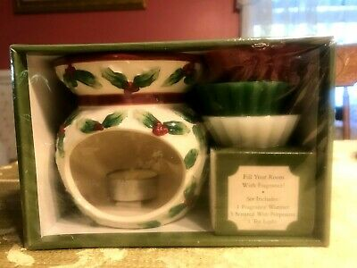 Olde South Candle Company Fragrance Warmer Gift Set Christmas Holiday Holly