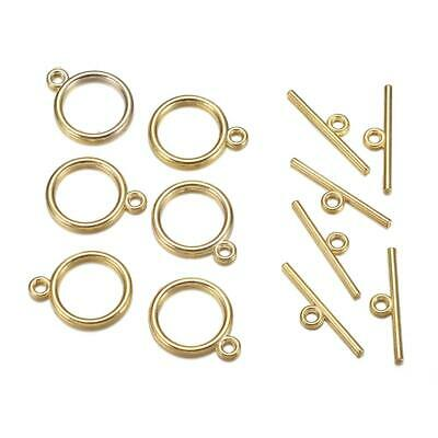 100sets New Silver Gold Tone Oval Toggle Clasps Connectors 15.5x13x1.5mm 808