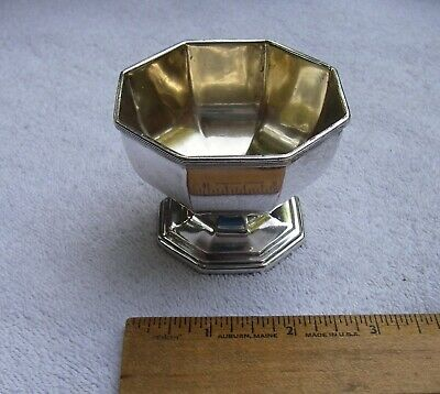 Vintage OCATAGONAL Silverplate Small FOOTED BOWL-Unmarked-NR