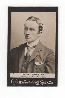Ogden cigarette card: Lord Curzon, Viceroy of India