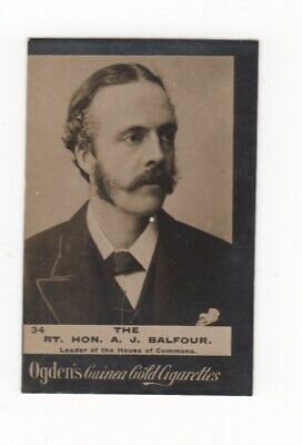 Ogden cigarette card: A J Balfour, Leader of the House of Commons