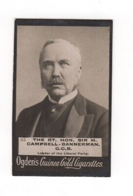 Ogden cigarette card: Sir Campbell-Bannerman, Leader of the Liberal Party