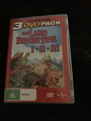 The Land Before Time / Great Valley Adventure / Time of the Great Giving DVDS