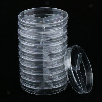 10Pcs Plastic Petri Dishes 35-90MM Sterile Cell Culture Dish High Temp Resistant