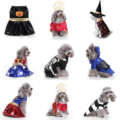 Pet Cat Fancy Jumpsuit Halloween Costumes Clothes Apparel Dog Party Dress Up UK