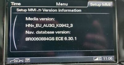 MISE A JOUR NAVIGATION CARTE GPS (version HN+R...) FULL EUROPE MMI 2020 AUDI