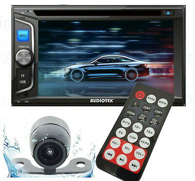 "6.2"" 2DIN Car Radio Stereo CD DVD Player Bluetooth Touchscreen AUX USB MP5 + CAM"