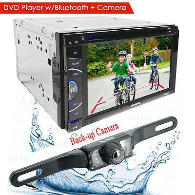 """6.2"""" DIN TOUCHSCREEN CAR STEREO DVD BLUETOOTH STEREO MP5 MP3 Player + Rear Cam"""