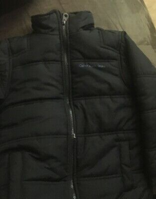Boys Calvin Klein Zip Up Puffy Jacket NO HOOD