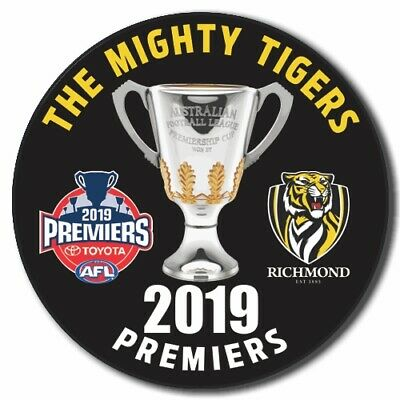 2019 PREMIERS Richmond 58mm Badge - The Mighty Tigers