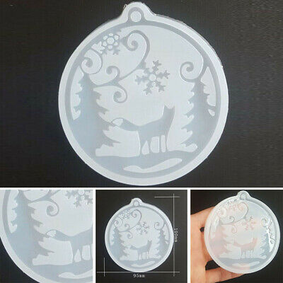 Christmas Silicone Pendant Mold Jewelry Making Resin Mould Epoxy DIY Craft UK