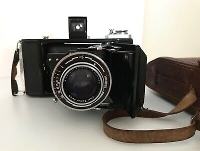 CARL ZEISS JENA TESSAR f3.5 105mm TEMPOR 120 BELLOWS CAMERA VINTAGE  1930s