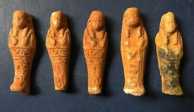 Collection Of Five Ancient Egyptian Miniature Shabti