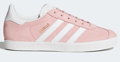 Women's Juniors Girls Adidas Originals Gazelle Trainers - Icey Pink - UK 5.5
