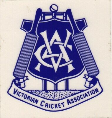 Victorian Cricket Association Sticker 1984