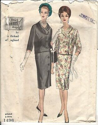 Vogue Couturier Design 1496 by Michael of England Vintage 60's Complete