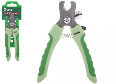 Crufts Dog Nail Clippers Soft Grip Pet Claw Trimmers Grooming Care Safety Guard