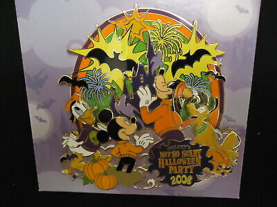 Disney Wdw Mnsshp Mickey's Halloween Party 2008 Jumbo Pin In Box Le 750