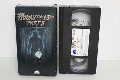 Friday the 13th Part 3 VHS Jason Voorhees Rare Horror Cult Classic