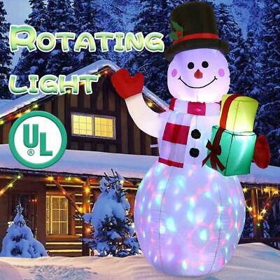5ft Giant Inflatable Christmas Snowman Airblown Light Up Outdoor Yard Home Decor