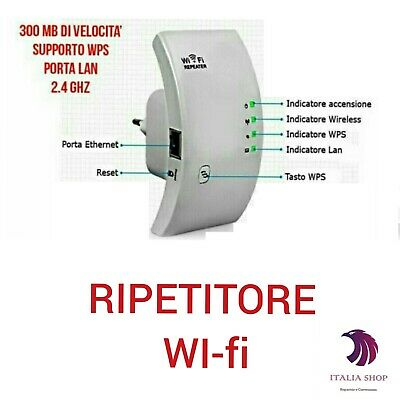 Ripetitore Wifi Antenna Wireless Wi-Fi Lan Dual Band 300Mb Segnale Internet