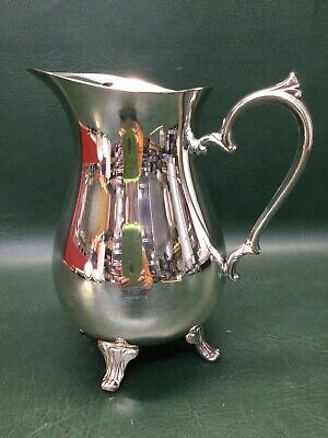 Vintage International Silver Co. Silverplate Water Pitcher Footed ~ Very Nice