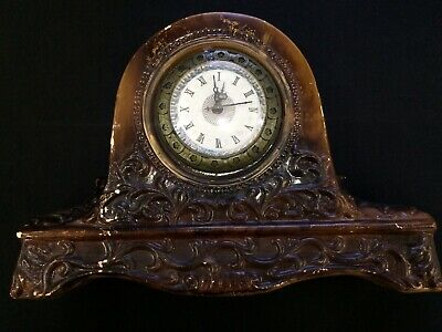 Vintage Antique Mantel Clock Very Old Not Working And Modified , Old Desk Clock