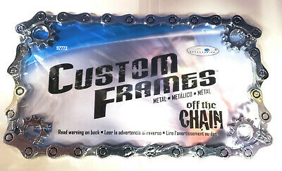 New Motorcycle Chain Sprocket MOTORCYCLE CHROME LICENSE PLATE FRAME TAG FRAME