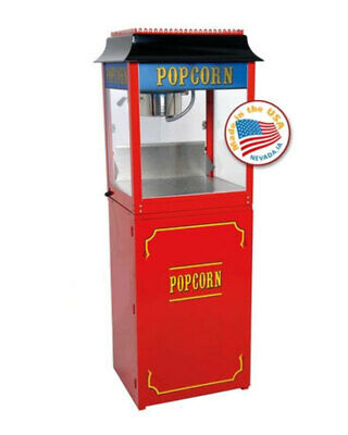 Red Paragon 1911 8 Ounce Popcorn Machine and Base Stand