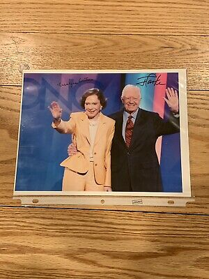 Jimmy Carter and Rosalynn Carter Autographed Signed 8x10 Photo