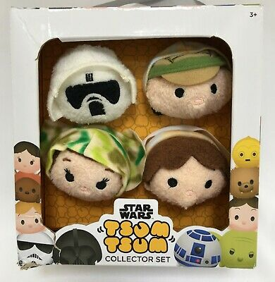 Star Wars Tsum Tsum Disney Plush Collector In Box Luke Leia Scout & Solo