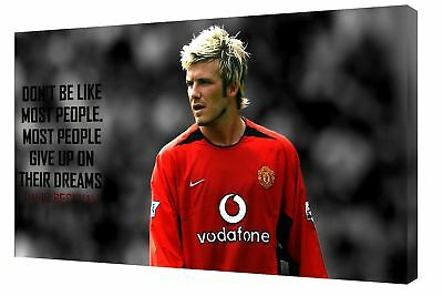 Football David Beckham Don't Be Like Most People Photo Print On Framed Canvas