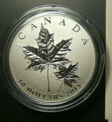 2013 Maple Leaf 1/2 oz Specimen $10 Silver Coin .9999 Fine
