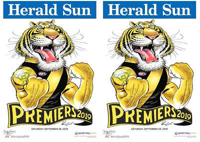 2019 AFL PREMIERS GRAND FINAL RICHMOND TIGERS WEG PREMIERSHIP-2 Posters