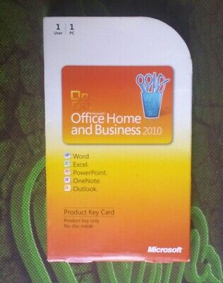 Microsoft Office 2010 Home and Business Product Key Card