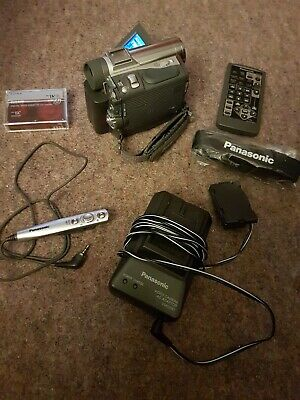 PANASONIC NV-GS1B MINI DV TAPE  CAMCORDER + Remote + Mic + Batt + Charger + Tape