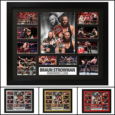 Braun Strowman Signed Framed Limited Edition Memorabilia - Multiple Variations