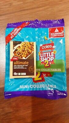 Coles Little Shop 2 Mini Collectable Ultimate 40% Choc Chip Cookies