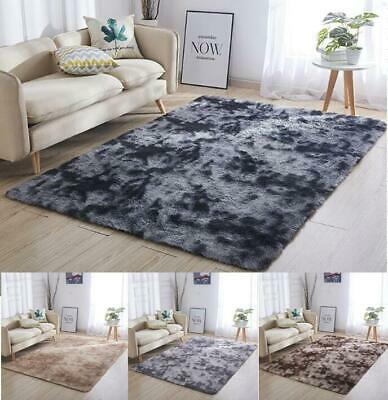 Dark Grey Large SHAGGY Floor RUG Soft SPARKLE Shimmer Extra Thick  Pile
